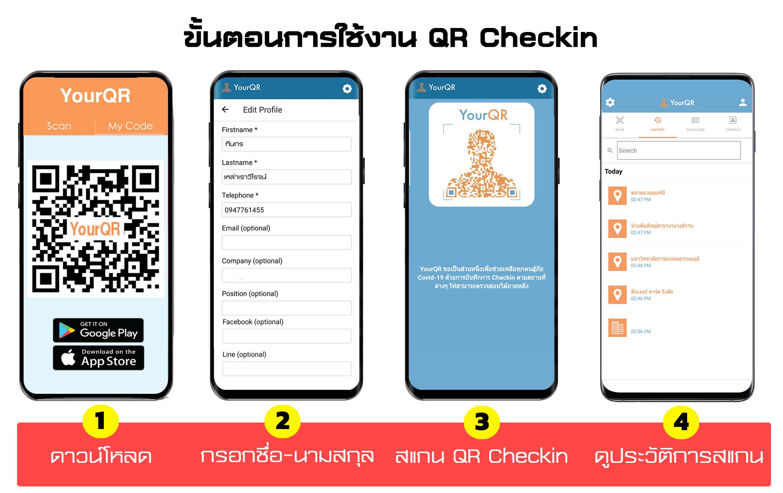 ขั้นตอนการใช้งาน QR Checkin
